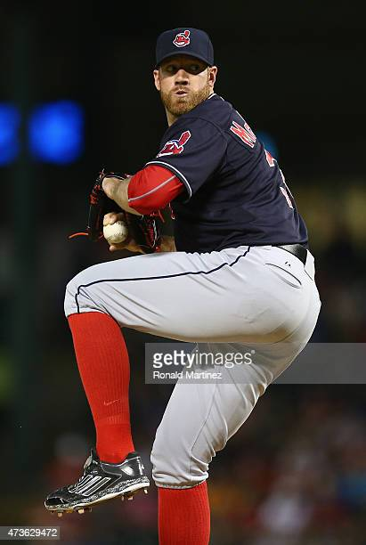 Zach McAllister of the Cleveland Indians at Globe Life Park in Arlington on May 15 2015 in Arlington Texas