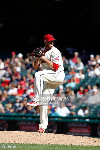 Zach McAllister of the Cleveland Indians pitches against the Chicago White Sox during the sixth inning of their game on September 20 2015 at...