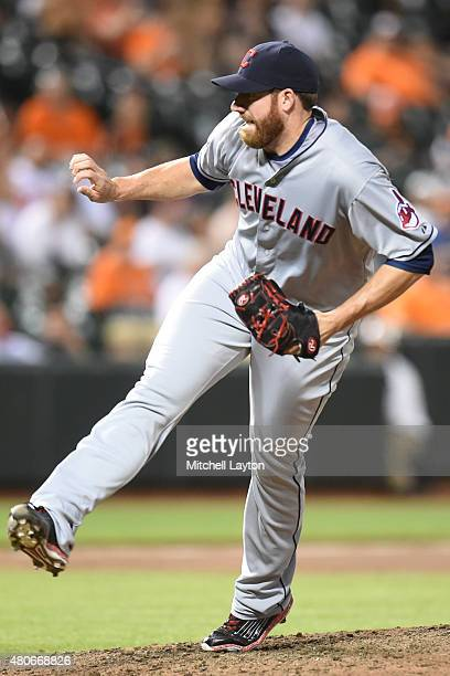 Zach McAllister of the Cleveland Indians pitches during game two of a baseball game against the Baltimore Orioles at Oriole Park at Camden Yards on...