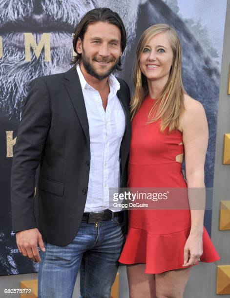 Zach McGowan and Emily Johnson arrive at the premiere of Warner Bros Pictures' 'King Arthur Legend Of The Sword' at TCL Chinese Theatre on May 8 2017...
