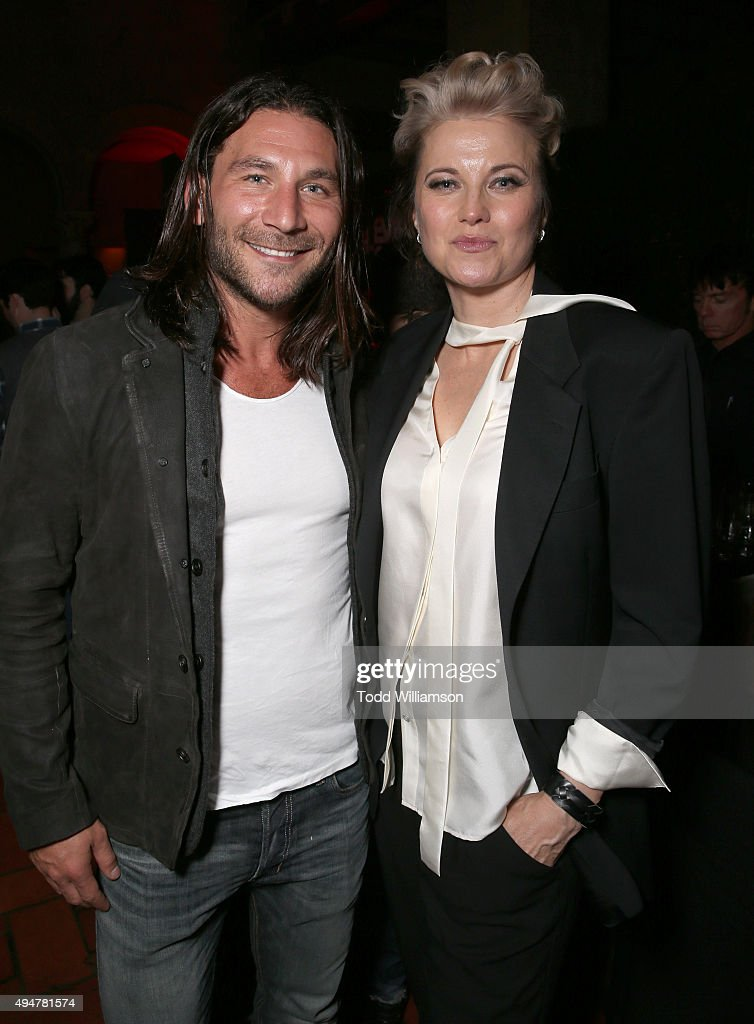 <a gi-track='captionPersonalityLinkClicked' href=/galleries/search?phrase=Zach+McGowan&family=editorial&specificpeople=5583928 ng-click='$event.stopPropagation()'>Zach McGowan</a> and <a gi-track='captionPersonalityLinkClicked' href=/galleries/search?phrase=Lucy+Lawless&family=editorial&specificpeople=209036 ng-click='$event.stopPropagation()'>Lucy Lawless</a> attend the after party for the Premiere Of STARZ's 'Ash vs Evil Dead' at Teddy's on October 28, 2015 in Hollywood, California.