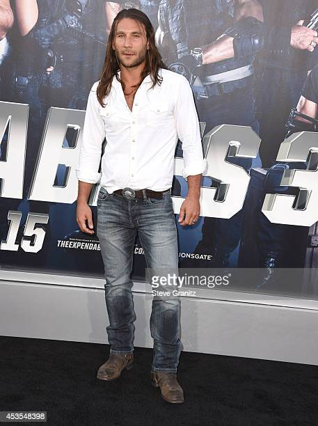 Zach McGowan arrives at the 'The Expendables 3' Los Angeles Premiere at TCL Chinese Theatre on August 11 2014 in Hollywood California