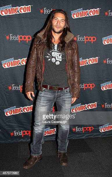 Zach McGowan in the 'Black Sails' Press Room at 2014 New York Comic Con Day 3 at Jacob Javitz Center on October 11 2014 in New York City