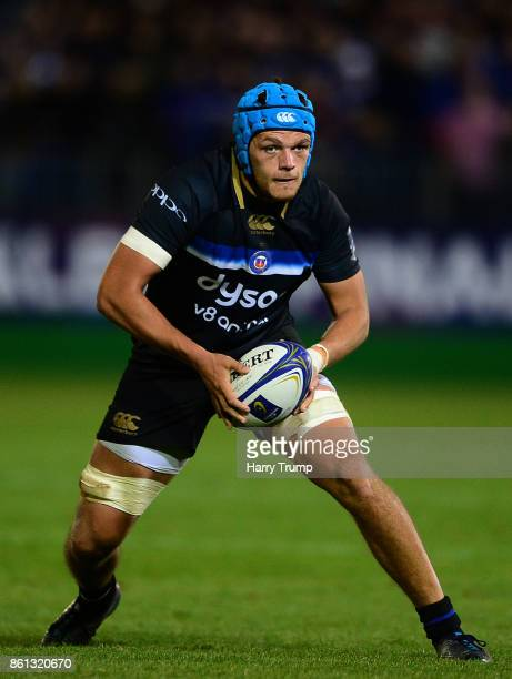 Zach Mercer of Bath Rugby during the European Rugby Champions Cup match between Bath Rugby and Benetton Rugby at Recreation Ground on October 14 2017...