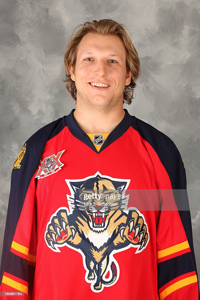 Zach Miskovic of the Florida Panthers poses for his official headshot for the 2013-2014 NHL season on September 11, 2013 in Sunrise, Florida.