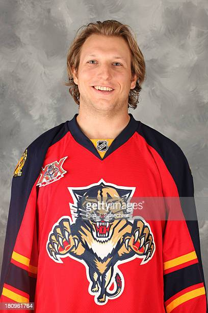 Zach Miskovic of the Florida Panthers poses for his official headshot for the 20132014 NHL season on September 11 2013 in Sunrise Florida