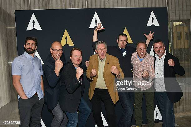 Zach Parrish Roy Conli Don Hall Bill Kroyer Chris Williams Adolph Lusinsky and Kyle Odermatt attend the Academy of Motion Picture Arts and Sciences'...