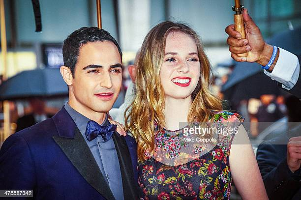 Zach Posen and Maya ThurmanHawke arrive at the 2015 CFDA Fashion Awards at Alice Tully Hall at Lincoln Center on June 1 2015 in New York City