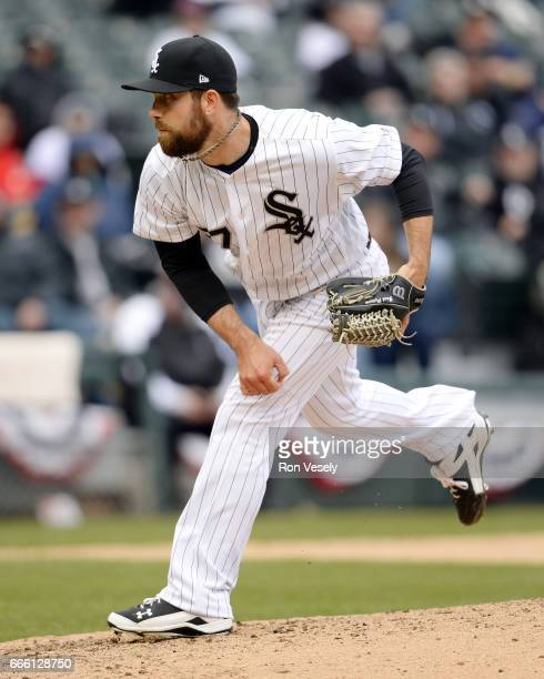 Zach Putnam of the Chicago White Sox pitches against the Detroit Tigers on April 04 2017 at Guaranteed Rate Field in Chicago Illinois The Tigers...