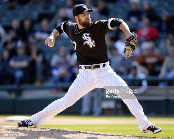 Zach Putnam of the Chicago White Sox pitches during the game against the Minnesota Twins at Guaranteed Rate Field on Saturday April 8 2017 in Chicago...