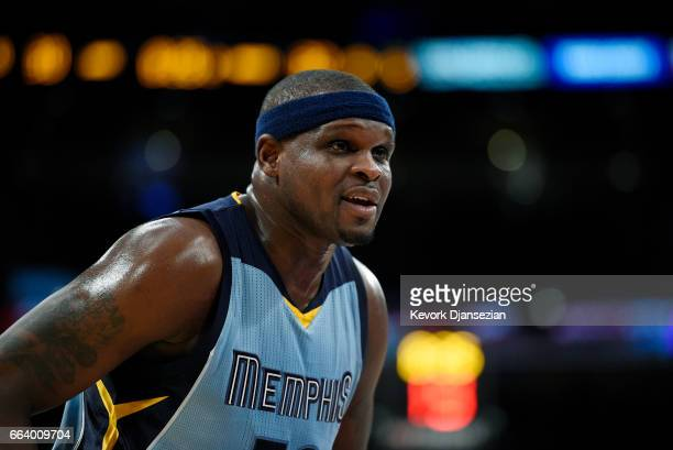 Zach Randolph of the Memphis Grizzlies during the second half of the basketball game against Los Angeles Lakers at Staples Center April 2 in Los...