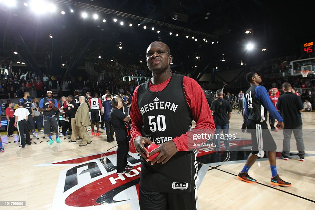 <a gi-track='captionPersonalityLinkClicked' href=/galleries/search?phrase=Zach+Randolph&family=editorial&specificpeople=201595 ng-click='$event.stopPropagation()'>Zach Randolph</a> #50 of the Memphis Grizzlies participates during the NBA All-Star Practice in Sprint Arena during the 2013 NBA All-Star Weekend on February 16, 2013 at the George R. Brown Convention Center in Houston, Texas.