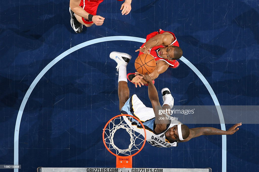 <a gi-track='captionPersonalityLinkClicked' href=/galleries/search?phrase=Zach+Randolph&family=editorial&specificpeople=201595 ng-click='$event.stopPropagation()'>Zach Randolph</a> #50 of the Memphis Grizzlies rebounds against <a gi-track='captionPersonalityLinkClicked' href=/galleries/search?phrase=Al+Horford&family=editorial&specificpeople=699030 ng-click='$event.stopPropagation()'>Al Horford</a> #15 of the Atlanta Hawks on December 8, 2012 at FedExForum in Memphis, Tennessee.