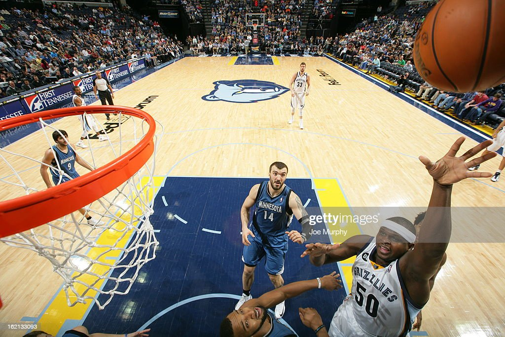 <a gi-track='captionPersonalityLinkClicked' href=/galleries/search?phrase=Zach+Randolph&family=editorial&specificpeople=201595 ng-click='$event.stopPropagation()'>Zach Randolph</a> #50 of the Memphis Grizzlies shoots against the Minnesota Timberwolves on February 10, 2013 at FedExForum in Memphis, Tennessee.