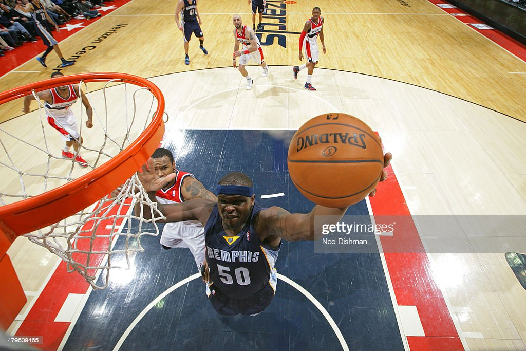 <a gi-track='captionPersonalityLinkClicked' href=/galleries/search?phrase=Zach+Randolph&family=editorial&specificpeople=201595 ng-click='$event.stopPropagation()'>Zach Randolph</a> #50 of the Memphis Grizzlies shoots against the Washington Wizards at the Verizon Center on March 3, 2014 in Washington, DC.