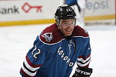 Zach Redmond of the Colorado Avalanche skates prior to the game against the New Jersey Devils at the Pepsi Center on March 12 2015 in Denver Colorado