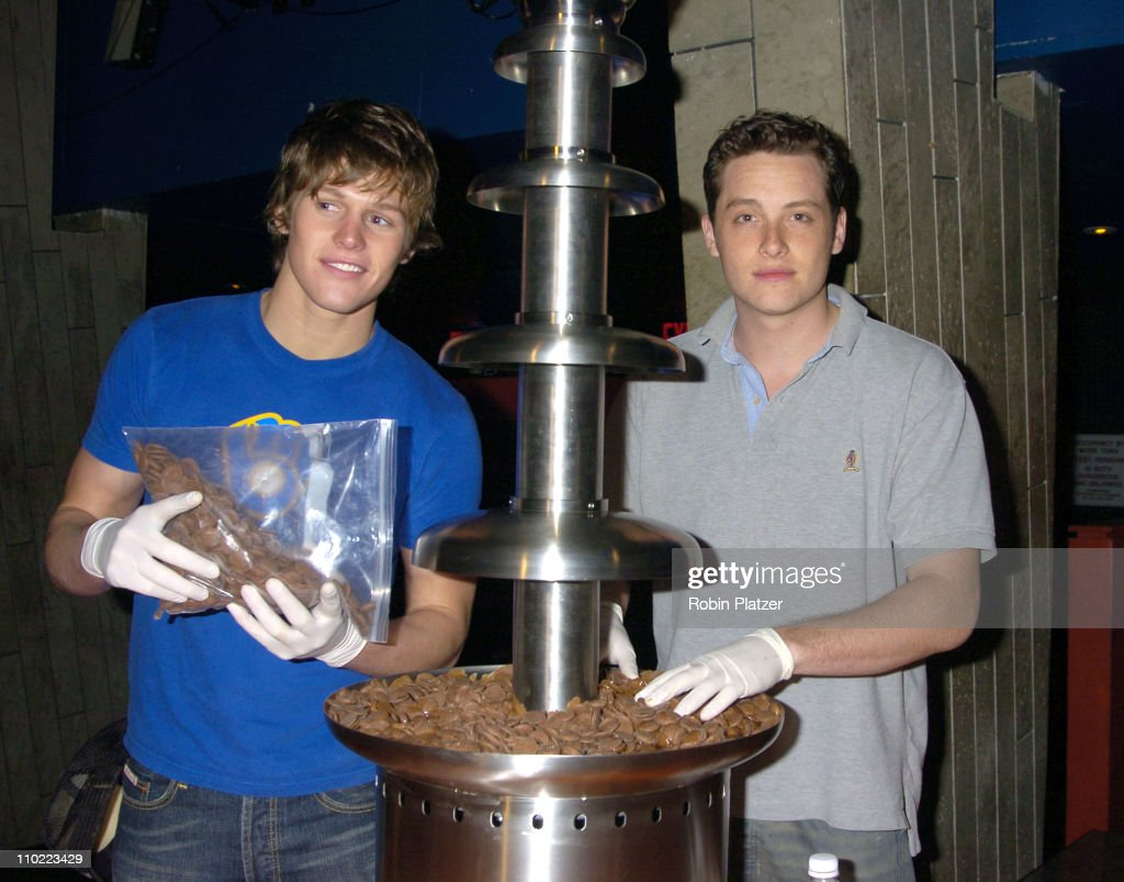 Zach Roerig and Jesse Soffer during Party for The Hot Men of CBS Guiding Light and As The World Turns which was filmed for David Tuteras Discovery Channel Show 'The Party Planner' at Crobar in New York, New York, United States.
