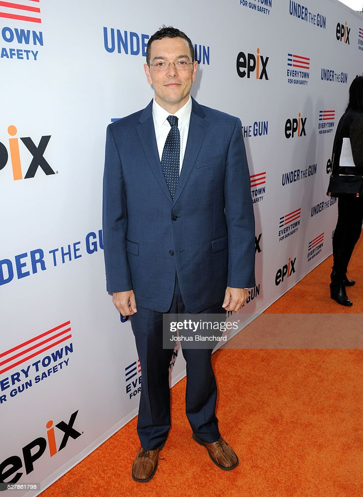 Zach Silk of Initiative 594 attends the 'Under The Gun' LA premiere featuring Katie Couric and Stephanie Soechtig at Samuel Goldwyn Theater on May 3...