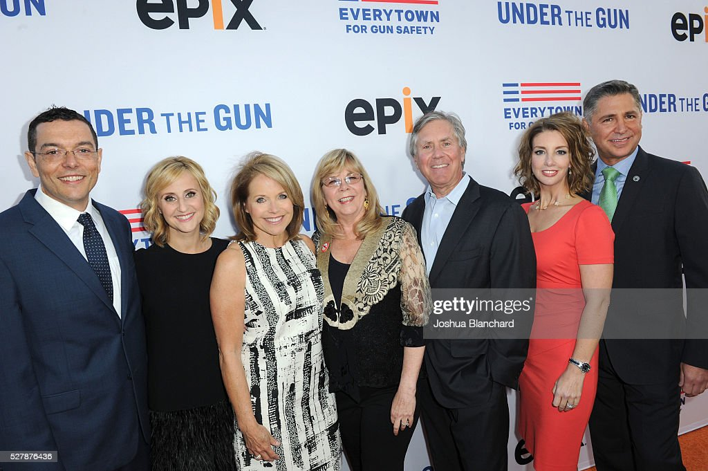 Zach Silk of Initiative 594 director Stephanie Soechtig journalist/executive producer Katie Couric Sandy Phillips of Jessi's Message Fund EPIX...