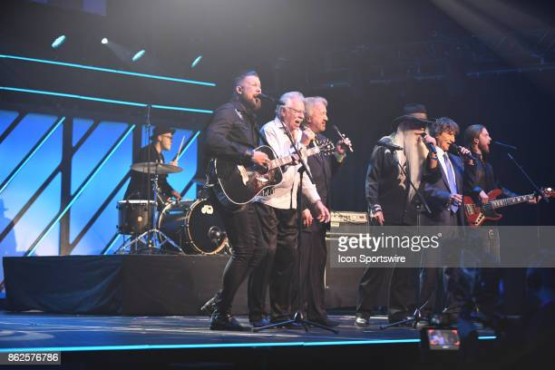 Zach Williams and the Oak Ridge Boys perform during the 48th Annual GMA Dove Awards in Allen Arena on October 17 2017 in Nashville TN