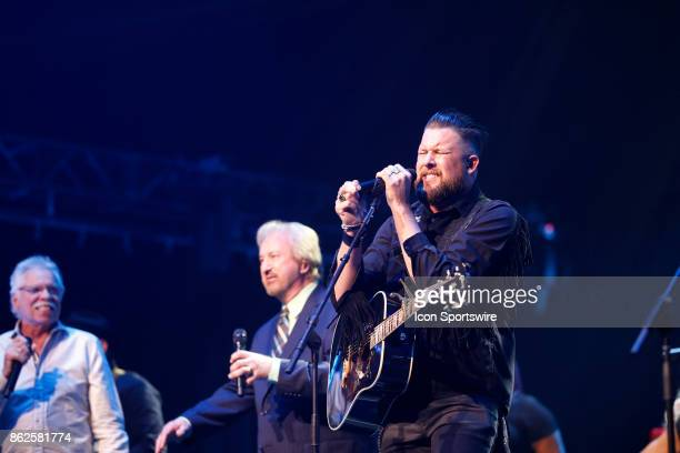 Zach Williams and the Oak Ridge Boys performs during the 48th Annual GMA Dove Awards in Allen Arena on October 17 2017 in Nashville TN