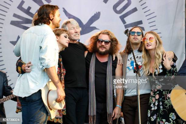 Zach Williams Jess Wolfe Roger Waters Jim James and Margo Price perform during the 2017 Newport Folk Festival at Fort Adams State Park on July 30...