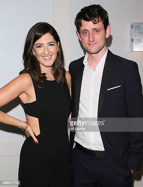 Zach Woods and D'Arcy Carden attend premiere of Vertical Entertainment's 'Other People' on August 31 2016 in West Hollywood California
