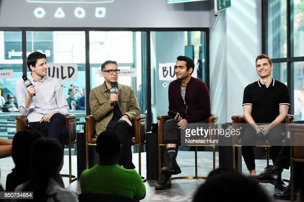 Zach Woods Fred Armisen Kumail Nanjiani and Dave Franco visit the Build Series to discuss the animated film 'The LEGO Ninjago Movie' at Build Studio...