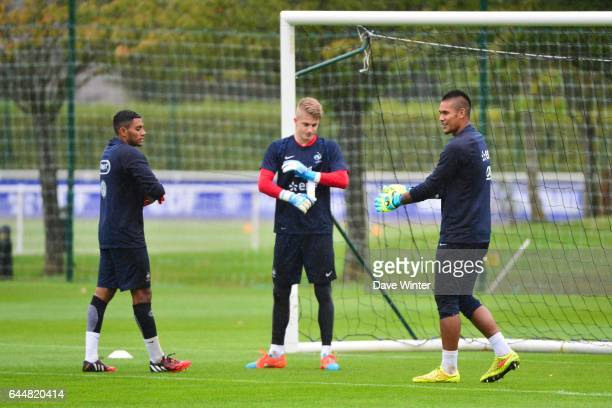 Zacharie BOUCHER / Paul NARDI / Alphonse AREOLA Entrainement Equipe de France Espoirs Clairefontaine Photo Dave Winter / Icon Sport