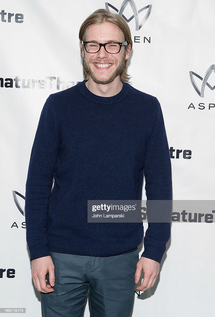 Zachary Booth attends the 'Old Hats' Opening Night at Signature Theatre Company's The Pershing Square Signature Center on March 4, 2013 in New York City.