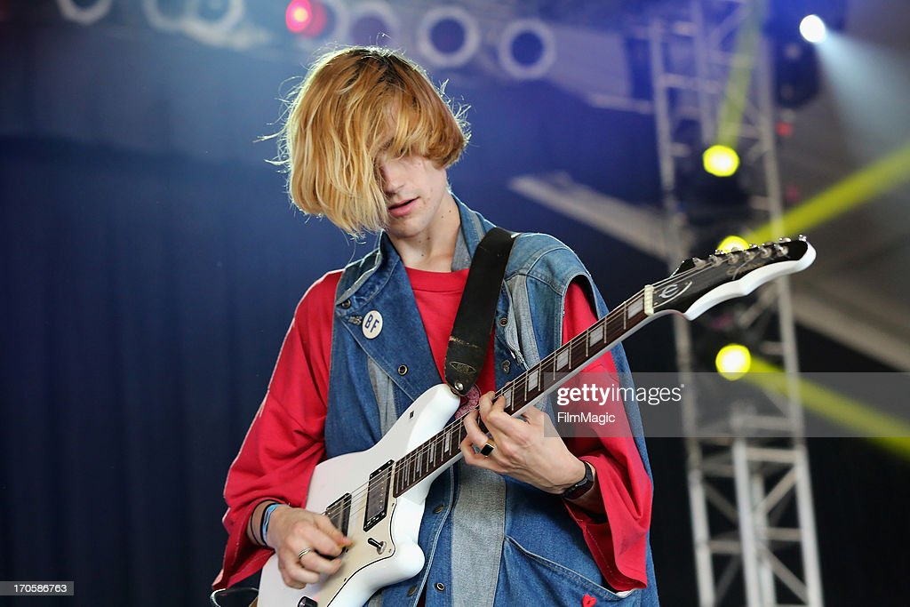 Zachary Cole of DIIV performs onstage during day 2 of the 2013 Bonnaroo Music Arts Festival on June 14 2013 in Manchester Tennessee