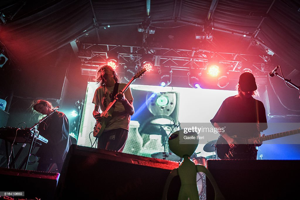 Zachary Cole Smith Andrew Bailey Devin Ruben Perez and Colin Caulfield from DIIV playing live at Heaven on March 18 2016 in London England