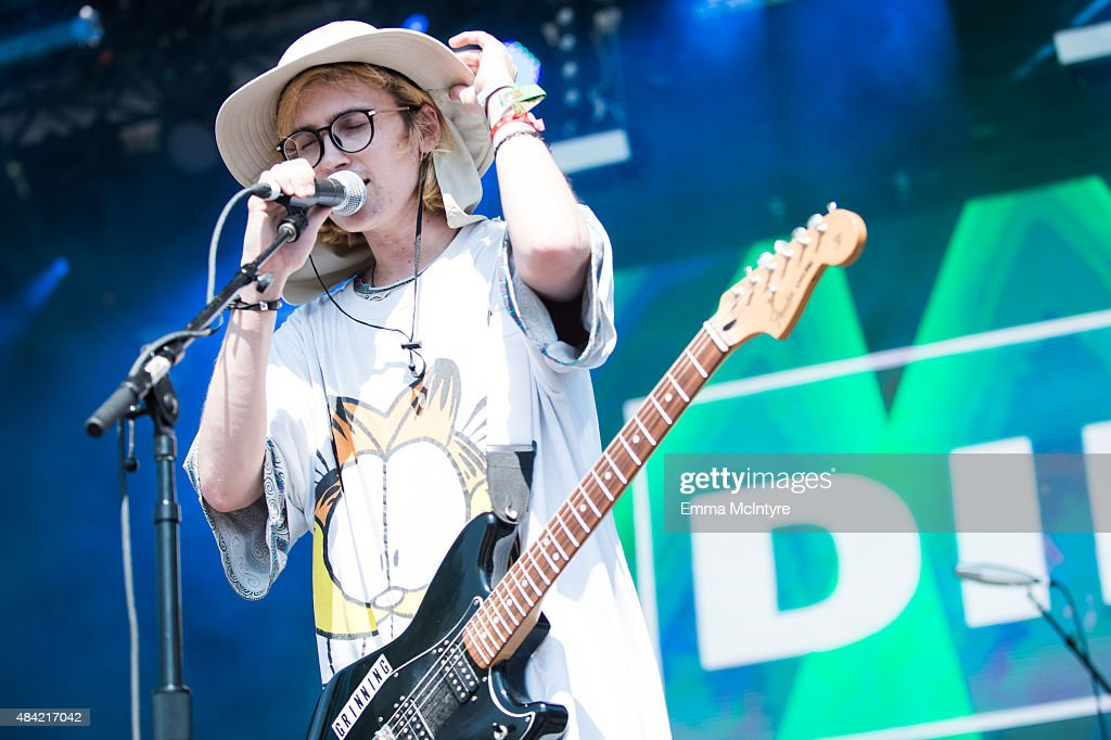 Zachary Cole Smith of DIIV performs live at the 2015 TIME Festival at Fort York on August 15 2015 in Toronto Canada