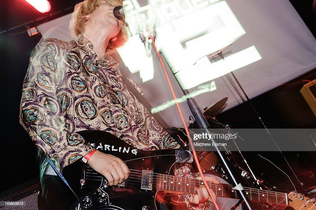 Zachary Cole Smith of the band DIIV performs on stage during Iceland Airwaves Music Festival at ldno on November 3 2012 in Reykjavik Iceland