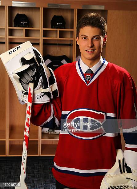 Zachary Fucale 36th overall pick by the Montreal Canadiens poses for a portrait during the 2013 NHL Draft at Prudential Center on June 30 2013 in...