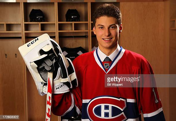 Zachary Fucale 36th pick overall by the Montreal Canadiens poses for a portrait during the 2013 NHL Draft at Prudential Center on June 30 2013 in...