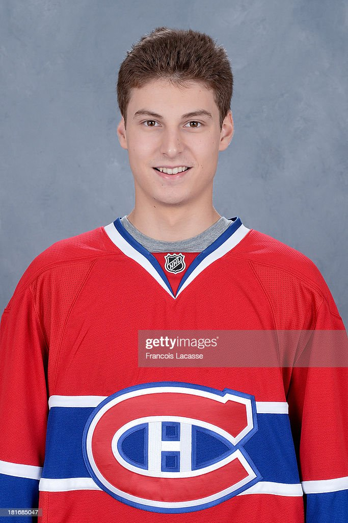 <a gi-track='captionPersonalityLinkClicked' href=/galleries/search?phrase=Zachary+Fucale&family=editorial&specificpeople=9959699 ng-click='$event.stopPropagation()'>Zachary Fucale</a> of the Montreal Canadiens poses for his official headshot for the 2013-2014 season on September 11, 2013 at the Bell Sports Complex in Brossard, Quebec, Canada.