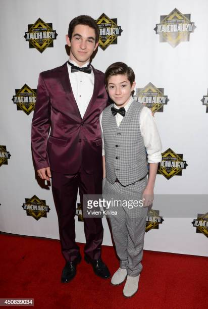 Zachary Gordon and Mason Cook attend 'I Party With Zachary' Zachary Gordon's 16th Birthday Bash at Petersen Automotive Museum on June 14 2014 in Los...