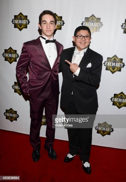 Zachary Gordon and Rico Rodriguez attend 'I Party With Zachary' Zachary Gordon's 16th Birthday Bash at Petersen Automotive Museum on June 14 2014 in...