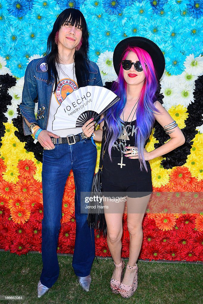Zachary James and Alexandra Starlight attend REVOLVEclothing's VIP Festival Event - Day 2 at The Saguaro Palm Springs on April 14, 2013 in Palm Springs, California.