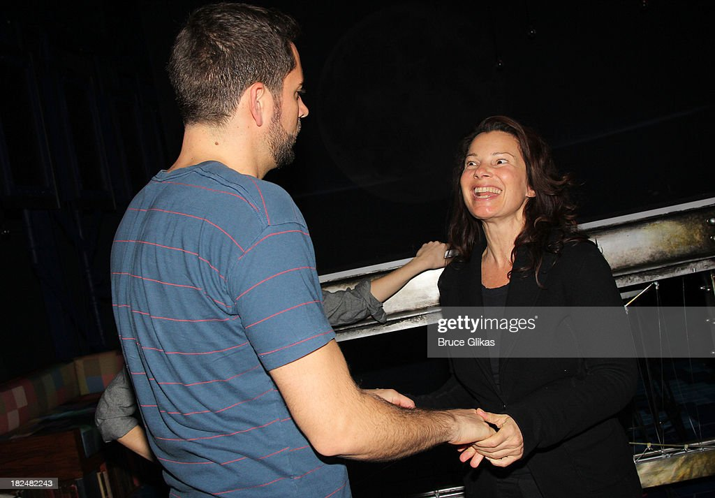 <a gi-track='captionPersonalityLinkClicked' href=/galleries/search?phrase=Zachary+Levi&family=editorial&specificpeople=242766 ng-click='$event.stopPropagation()'>Zachary Levi</a> and <a gi-track='captionPersonalityLinkClicked' href=/galleries/search?phrase=Fran+Drescher&family=editorial&specificpeople=201602 ng-click='$event.stopPropagation()'>Fran Drescher</a> backstage at 'First Date' on Broadway at The Lyceum Theater on September 29, 2013 in New York City.