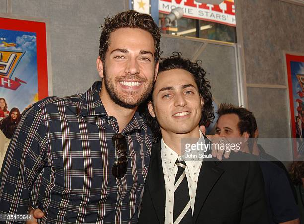 Zachary Levi and Keaton Simons during 'Sky High' Los Angeles Premiere Red Carpet at El Capitan Theatre in Los Angeles California United States
