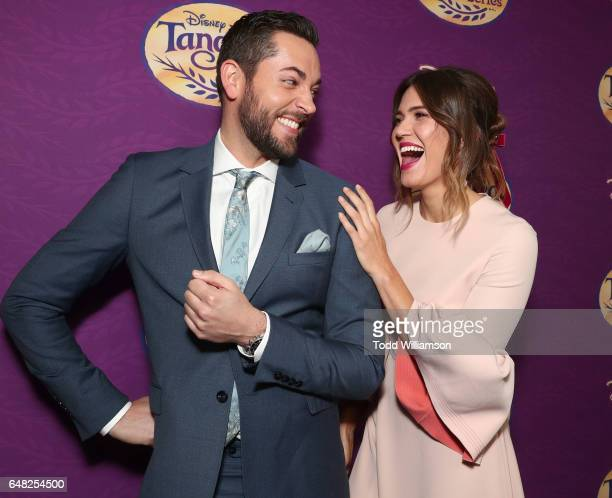 Zachary Levi and Mandy Moore attend a screening Of Disney's 'Tangled Before Ever After' at The Paley Center for Media on March 4 2017 in Beverly...