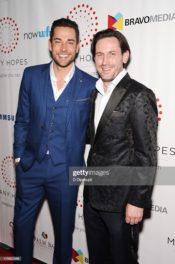 Zachary Levi (L) and Many Hopes founder Thomas Keown attend the 4th Annual Discover Many Hopes Gala at The Angel Orensanz Foundation on June 4, 2015 in New York City.