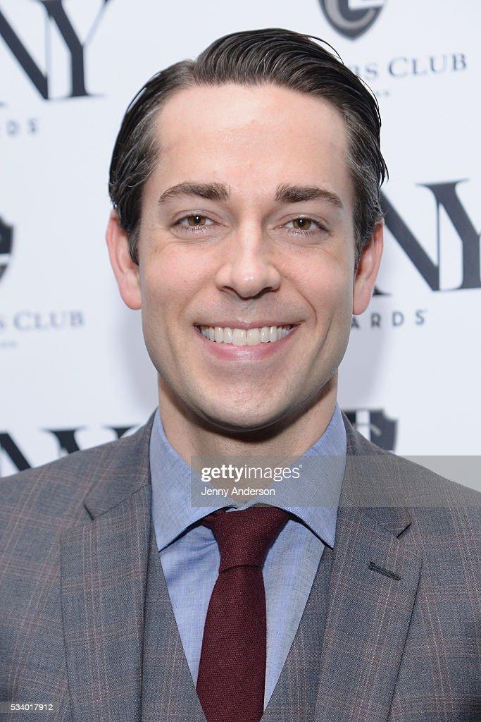 Zachary Levi arrives at A Toast To The 2016 Tony Awards Creative Arts Nominees at The Lambs Club on May 24, 2016 in New York City.