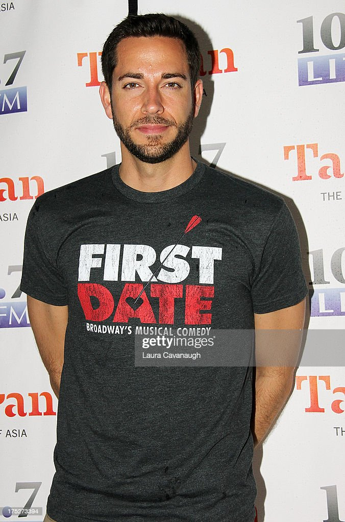 <a gi-track='captionPersonalityLinkClicked' href=/galleries/search?phrase=Zachary+Levi&family=editorial&specificpeople=242766 ng-click='$event.stopPropagation()'>Zachary Levi</a> attends 106.7 LITE FM's Broadway in Bryant Park 2013 at Bryant Park on August 1, 2013 in New York City.