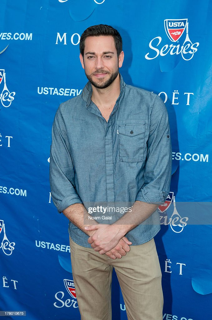 <a gi-track='captionPersonalityLinkClicked' href=/galleries/search?phrase=Zachary+Levi&family=editorial&specificpeople=242766 ng-click='$event.stopPropagation()'>Zachary Levi</a> attends the 13th Annual USTA Serves Opening Night Gala at USTA Billie Jean King National Tennis Center on August 26, 2013 in New York City.