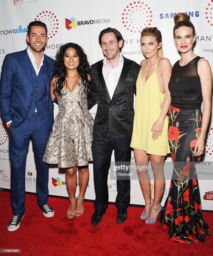 Zachary Levi, Chloe Flower, Many Hopes founder Thomas Keown, AnnaLynne McCord, and Alice Callahan attend the 4th Annual Discover Many Hopes Gala at The Angel Orensanz Foundation on June 4, 2015 in New York City.