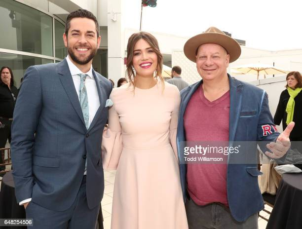 Zachary Levi Mandy Moore and Jeff Ross attend a screening Of Disney's 'Tangled Before Ever After' at The Paley Center for Media on March 4 2017 in...