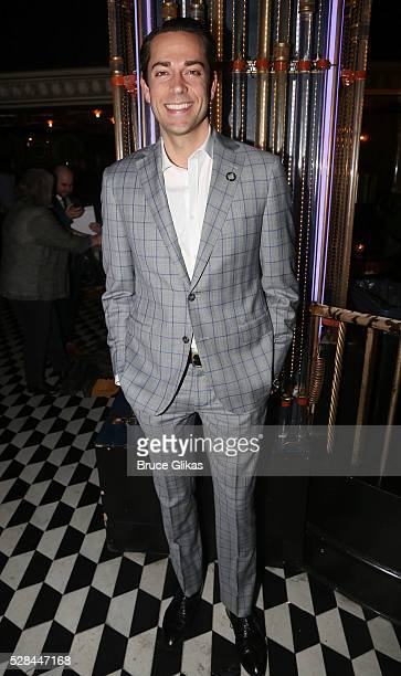 Zachary Levi pose at The 70th Annual Tony Awards Meet The Nominees Press Junket at The Diamond Horseshoe at the Paramount Hotel on May 4 2016 in New...